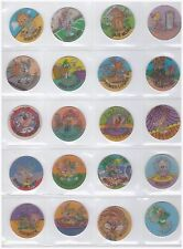 LOONEY TUNES TINY TOON Complete set 50 Tazos Pogs Lenticular Hollographic Spain