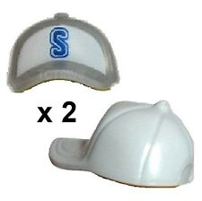 Lego Minifigures ~ Lot of 2 STACKERS Baseball Hat Cap x 2 NEW
