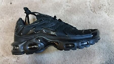 Nike Air Max TN Plus All Black Size 9.5 Athletic Sneakers