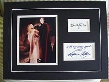 CHRISTOPHER LEE VERONICA CARLSON Signed Matted Display DRACULA HAS RISEN Hammer
