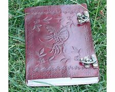 Large Fairly Moon Handmade Book Of Shadows Leather Journal Wicca Diary Pagan