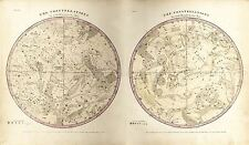 MAP SPACE ASTRONOMY BURRITT 1856 CONSTELLATIONS REPLICA POSTER PRINT PAM1206