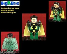 BARON MORDO Custom Lego Marvel Printed Minifigure w/Custom Gear NO DECALS Used!