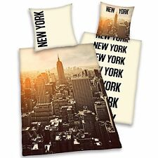 NEW YORK CITY SUNRISE DUVET COVER EMPIRE STATE BUILDING SUNSET NEW NYC