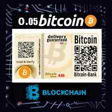 0.05 BTC Certificate Free International Tracked Delivery Bitcoin Digitalcash