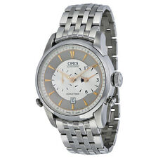 Oris Miles Automatic Silver Dial Stainless Steel Mens Watch 690-7681-4061MB