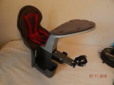 WEERIDE child bike seat up to 40lbs Kangaroo Grey  good used