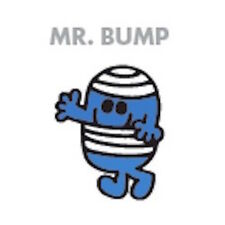 Mr men et little miss carte de vœux: monsieur bump-neuf sous cello post daily