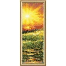 "Orange Sunset Cross Stitch Kit - Riolis - (R1023) - 8.25"" x 18"""