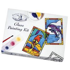 HOUSE OF CRAFTS GLASS PAINTING PAINT STARTER SET COMPLETE CRAFT KIT GIFT MK008