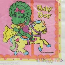 BABY BOP SMALL NAPKINS (16) ~ VTG Barney Birthday Party Supplies Cake Beverage