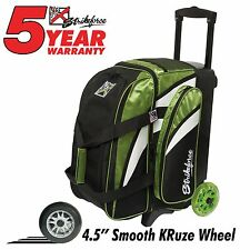 KR Strikeforce Cruiser Smooth 2 Ball Double Roller Bowling Bag Lime