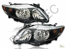 Black Headlights For 09-10 Toyota Corolla RH & LH S/ XRS Style
