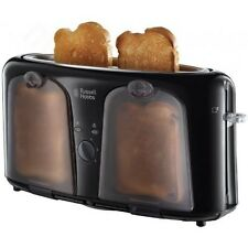 Russell Hobbs Easy Collection Langschlitz Toaster Warmhalte Fach schwarz