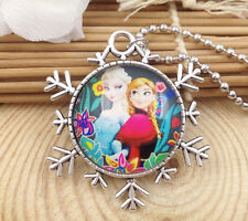 Hot FROZEN PENDANT Silver Plated CHAIN NECKLACE ROYAL PRINCESS Y6