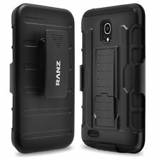 RANZ Alcatel one touch Conquest Impact Armor Hybrid Kickstand & Belt Clip Case
