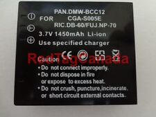 Battery for Panasonic DMW-BCC12 CGA-S005 CGA-S005A/1B 1450mAh - CANADA