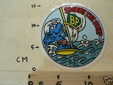 STICKER,DECAL BP SMURF THE SURF,SMURFS,SCHLUMPHE,LES SCHROUMPFS,PUFFI,PITUFOS