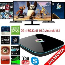 Q-BOX Ultra 4K Smart TV Box S905 Quad-Core Wifi BT Android 5.1 KODI 16.0 2G+16G