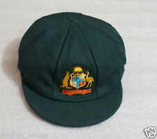 AUSTRALIA TEST GREEN BAGGY Cricket CAP -TEST CLASSIC MELTON BAGGY GREEN CAP