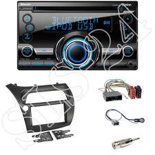 Honda Civic VIII FK1/FK2 ab06 Doppel-DIN Blende+ISO Adapter+Clarion CX501E Radio