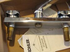 "Kohler Triton Sink Faucet Polished Chrome W/ Handles 7825-2A-0-CP New 8"" Center"