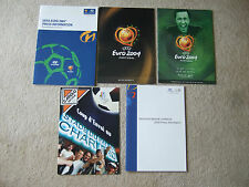uefa euro 2000 inc england hyundai press kit + 32 page booklet