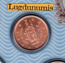 Saint Marin 2008 - 2 Centimes D'Euro - 50 000 exemplaires Provenant du BU RARE