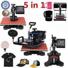 5 IN 1 SWING Heat Press Machine (CAP, PLATE, MUG,T-SHIRT) Sublimation Printer