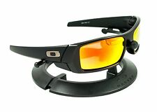 OAKLEY GASCAN MATTE BLACK FRAME & REVANT FIRE RED POLARIZED CUSTOM LENSES