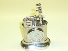 "DUNHILL ""LONGITUDE"" TABLE LIGHTER WITH CLOCK - LIMITED EDITION - MADE IN ENGLAND"