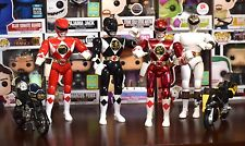 """1993-1995 Mighty Morphin Power Rangers Lot Action Figures And Motorcycles 8"""""""