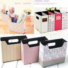 DIY Hot  Makeup Cosmetic Stationery Paper Board Storage Box Desk Decor Organizer