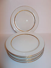 6 x Eschenbach Porcelain China Side Cake Plates 17.3cm Gold Band Germany Lovely