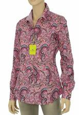 NEW ETRO MILANO PAISLEY STRETCH COTTON BUTTON DOWN SHIRT BLOUSE TOP 44/10
