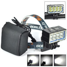 20000Lm 8 x XM-L2 LED Front Bike Bicycle Head Light HeadLamp w/20000mAh Battery