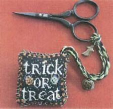 TRICK OR TREAT SCISSOR FOB-CROSS STITCH-BLACKBERRY LANE