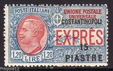 COSTANTINOPOLI 1923 - ESPRESSO - P. 15 SU L. 1,20 CON SCRITTA - MNH