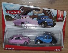 Nuevo Disney Cars Nancy John Pack 2 Diecast Escala 1:55 bdw87 y0506 Mattel