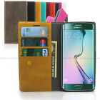 Leather wallet flip case Slim folio card book cover for iPhone 6 / Galaxy S / LG