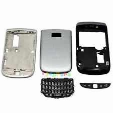 FULL HOUSING COVER + FRAME + KEYPAD FOR BLACKBERRY TORCH 9810 #H273_SILVER