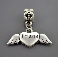 Best Friend Heart Charm - Silver Tone - Suits Pandora Bracelet