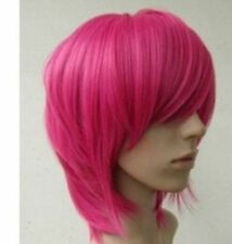 New Short Hot Pink straight base cosplay wig