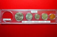 "1999  ""BIRTH YEAR""  MINT  SET in WHITMAN DISPLAY CASE, ""BU"" UNCIRCULATED COINS"