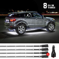 WHITE Bright Led Under Car Truck SUV Glow Neon Strip Lights Kit 3 Pattern+8Tube