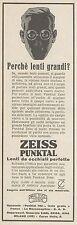 Z3280 Lenti da occhiali ZEISS Punktal - Pubblicità d'epoca - 1930 Old advert