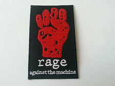HEAVY METAL PUNK ROCK MUSIC SEW / IRON ON PATCH:- RAGE AGAINST THE MACHINE (a)