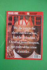 TIME rivista magazine OCTOBER 16 1995 ORENTHAL JAMES SIMPSON  PEACE IN BOSNIA