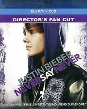 Blu Ray JUSTIN BIEBER - Never Say Never - ( Blu Ray + Dvd) ......NUOVO