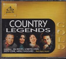 GOLD COUNTRY LEGENDS - VARIOUS ARTISTS on 4 CD's -  NEW